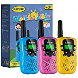 Walkie Talkie, SANJOIN Walkie Talkies for Kids, 22 Channels Kid Walkie Talkies with Backlit LCD Flashlight, Up to 3 KM Range 3-12 Year Old Toys for Outside Adventures, Camping, Hiking - 3 Pack (Blue&Pink&Yellow)