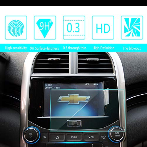 For 2011-2014 2015 2016 2017 Chevrolet Malibu 7-Inch 152x91mm Car Navigation Screen Protector HD Clarity 9H Tempered Glass Anti-Scratch, In-Dash Media Touch Screen GPS Display Protective Film