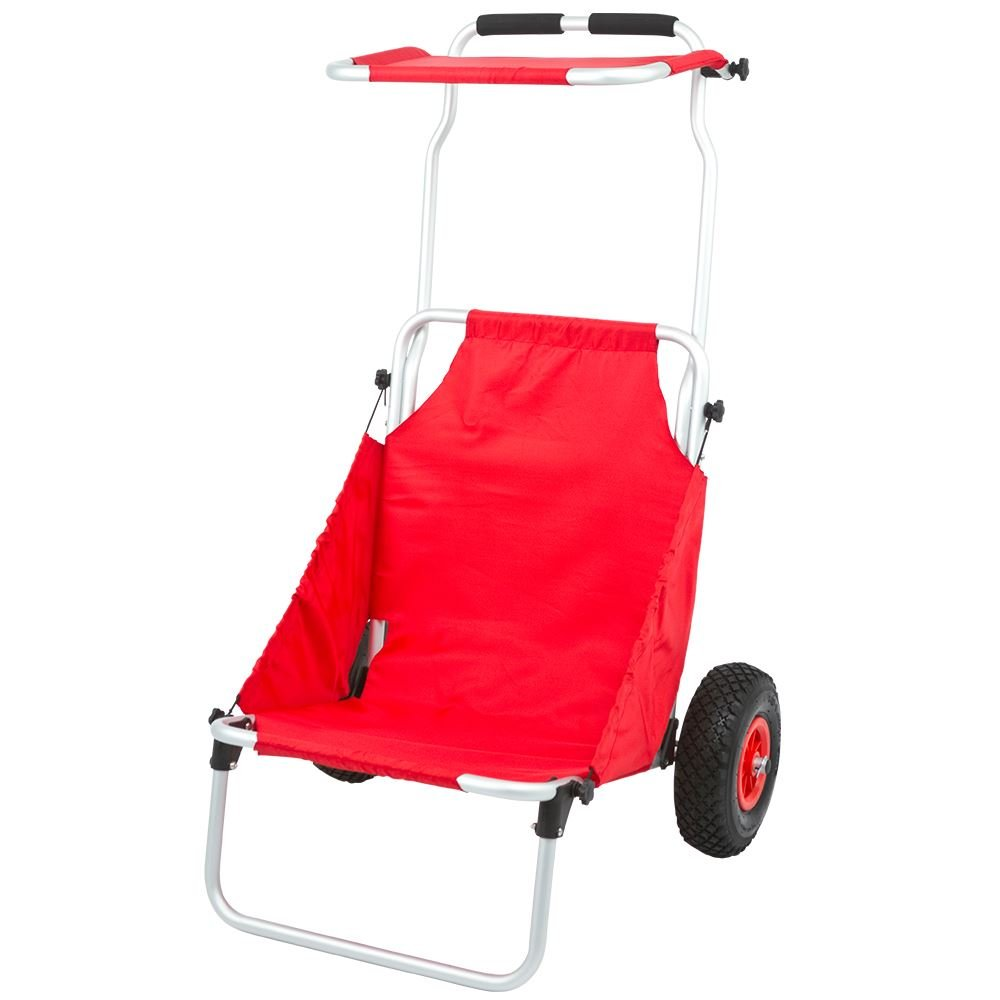 Rage Powersports BFC-RED Red Folding Beach Fishing Chair/Cart