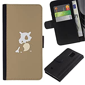 NEECELL GIFT forCITY // Billetera de cuero Caso Cubierta de protección Carcasa / Leather Wallet Case for Samsung Galaxy Note 4 IV // P0kemon Carácter