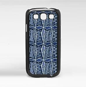 Tribal Blue Pattern Hard Snap on Phone Case (Galaxy s3 III)