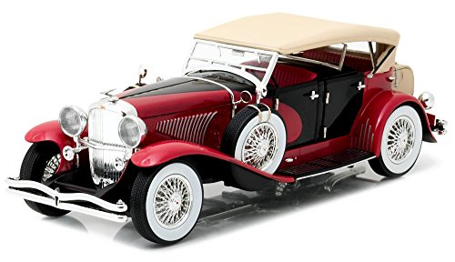 1934-duesenberg-ii-sj-red-and-black-1-18-by-greenlight-12995