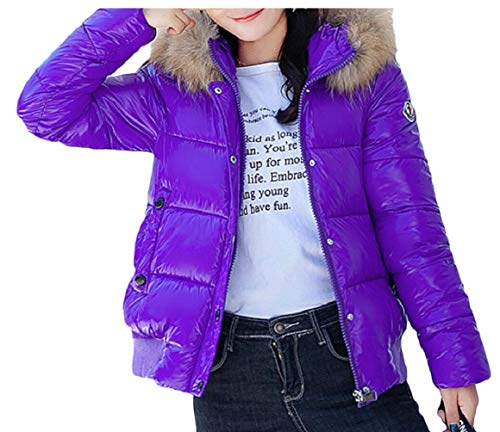 Women's 2 security Short Coat Padded Slim Thickened Coat Overcoat Down Jacket Hooded Warm 7qxvqwdScr
