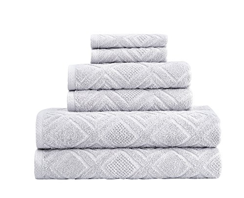 Classic Turkish Towels 6 Piece Cotton Bath Towel Set – Luxurious Soft and Thick Bath Towels 600 GSM Made with 100% Turkish Cotton – Gemstone Towel Collection