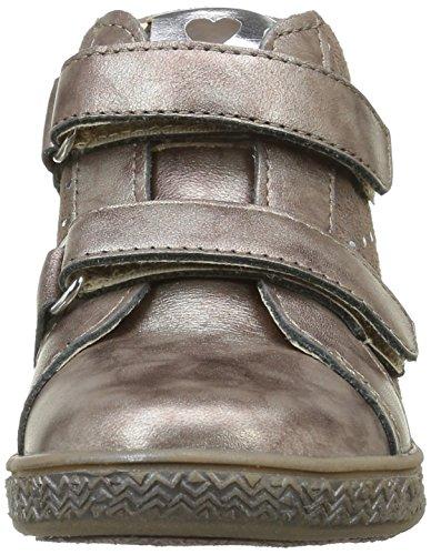 Babybotte Aublada 1B4247 - Zapatillas con velcro para niñas Marrón (213 Taupe Pailleté)