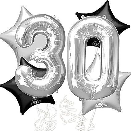 Amazon.com: 30 cumpleaños ramo de globos – Gigante 30 años ...