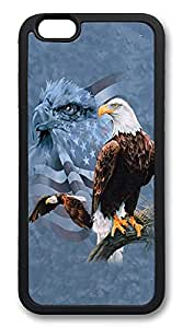 ICORER Nice iPhone 6 Case, Usa Flag And Bald Eagle Durable Case Cover for Apple iPhone 6 4.7in TPU Black
