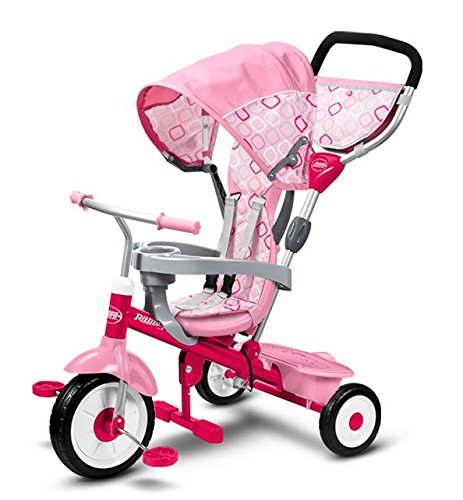 4 in 1 Baby Tricycle (Pink) - 3