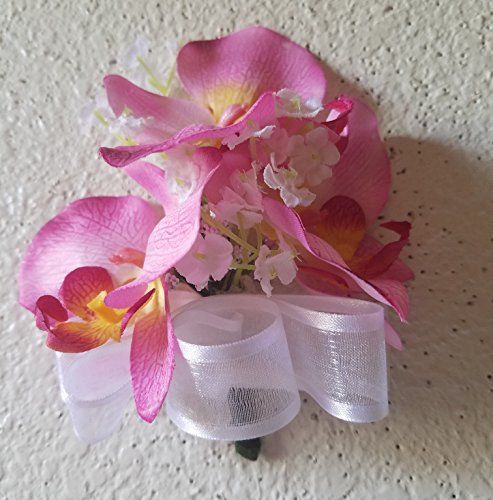 Orchid Corsage - Pink Orchid Corsage or Boutonniere
