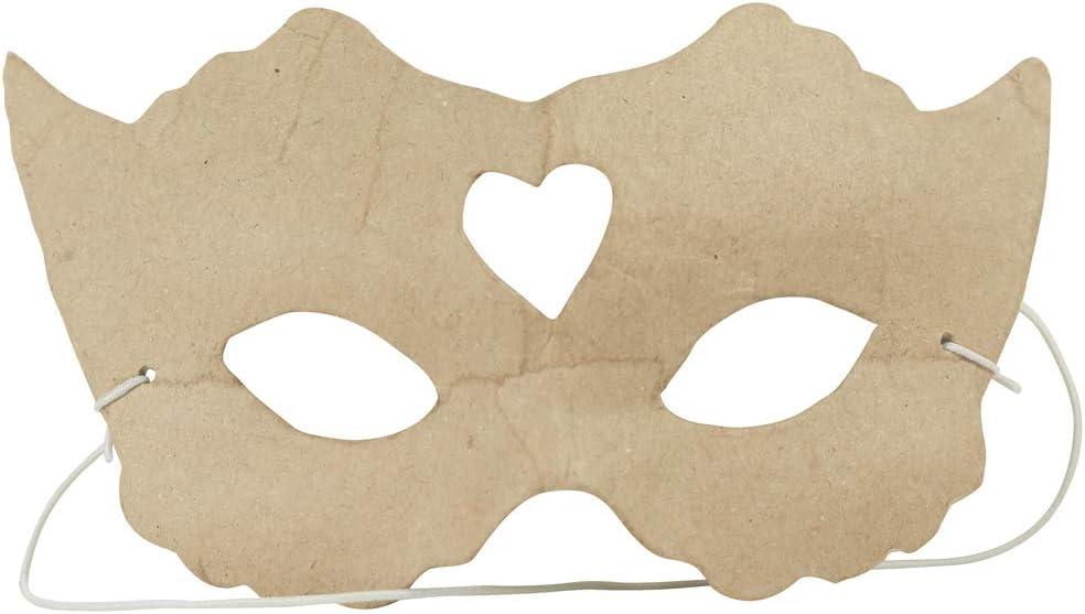 Brown D/écopatch Mache Face Mask 17x11x24 cm