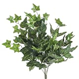 Factory Direct Craft Set of 2 Artificial Ivy Bush with Dewy Look for Home Decor, and Displaying
