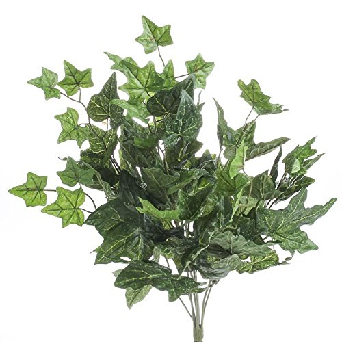 Factory Direct Craft Set of 2 Artificial Ivy Bush with Dewy Look for Home Decor, and Displaying by Factory Direct Craft