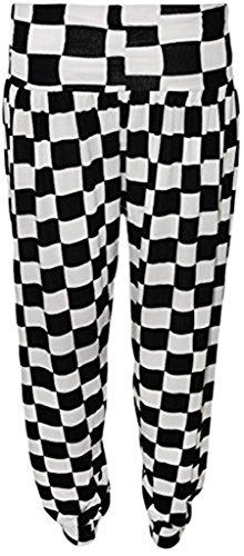 (RM Fashions Womens Printed Harem Yoga Dance Trouser Pants Chess Box Print ML US 8/10 (UK 12/14) )