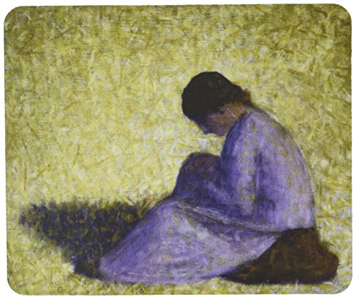 3410 Series (Rikki Knight Georges-Pierre Seurat Art Peasant Woman Seated in Grass Design Lightning Series Gaming Mouse Pad (MPSQ-RK-3410))