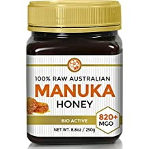 Raw Certified NPA 20+ Highest Grade Manuka Honey MGO 820+ Medicinal Strength - BPA Free Jar - Cold Extraction - Independently Verified 250g