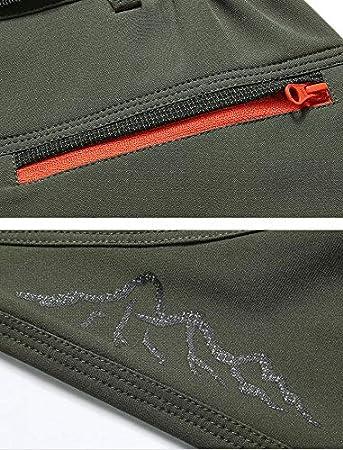 LaoZanA Hombres Pantal/ón De Monta/ña Pantalones De Softshell Trekking Escalada