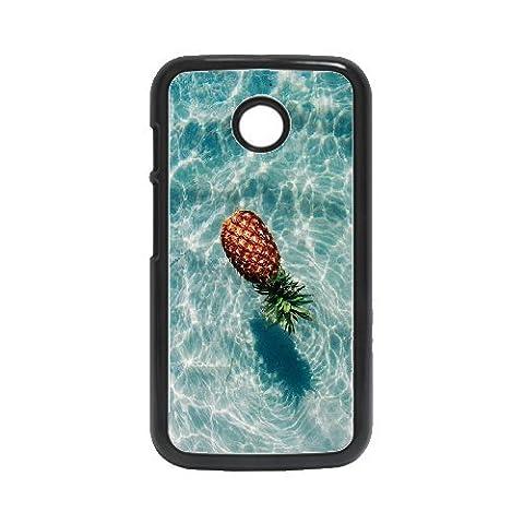 (Only for: Motorola E)Water pineapple custom Motorola E cover case phone shell,Black (Water Cover Motorola)