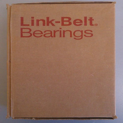 Link-Belt P3S223E Ball Bearing Pillow Block, 2 Bolt Holes, Intermediate-Duty, Relubricatable, Non-Expansion, Cast Iron, Setscrew Locking Collar, Inch, 1-7/16