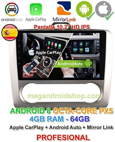2din Gps Radio Android 8 Ips Display Octacore Px5 64bit 4gb Ddr3 Ram 64gb Apple Car Play Android Auto Ford Focus Mk2 2004 2011 Mit Klimaanlage Keine Klimaanlage Navigation