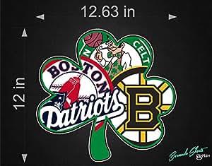 Amazon Com Bermuda Shorts Graphics Boston Sports Fan New