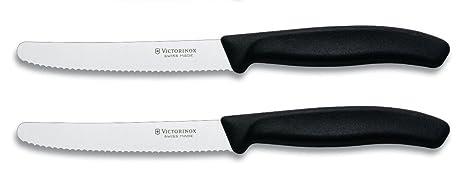 Amazon.com: Victorinox – Cuchillo de vapor de punta plana de ...