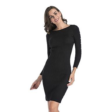 prix de détail profiter de la livraison gratuite la clientèle d'abord NiSeng Robe Pull Classique Femme Robe Droite Fines Mi Longue ...