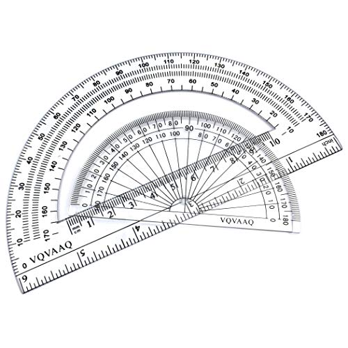 7 Piece Geometry School Set,with Quality Compass, Linear Ruler, Set Squares, Protractor, by XiangLv (Image #3)