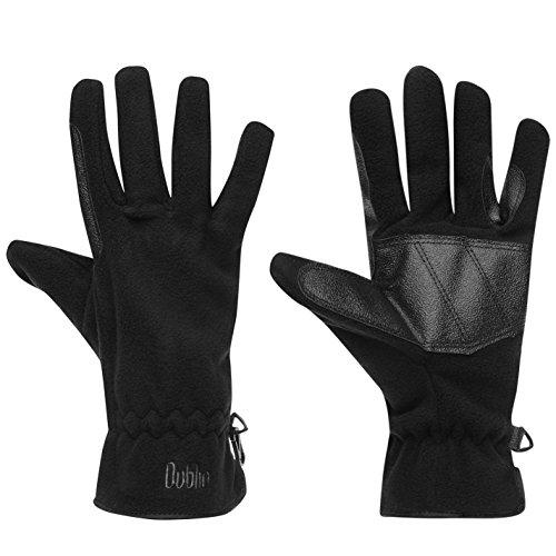 Dublin Fleece - Dublin Womens Polar Fleece Gloves Warm Black Large