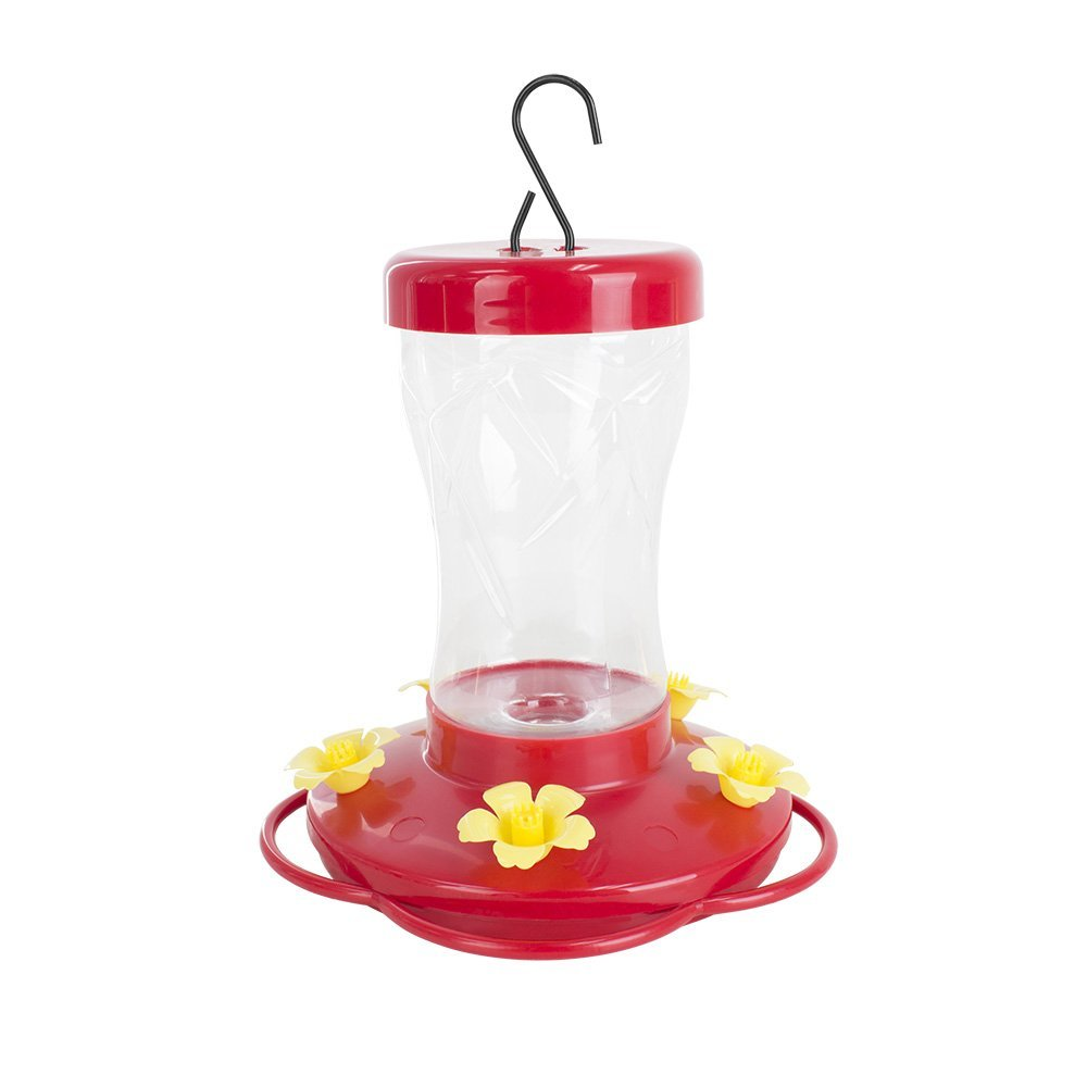 BLUE BEAGLE 16 ounce Hummingbird Feeder, Bird Feeders with 5 Feeding Stations for Outside
