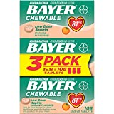 Health & Personal Care : Aspirin Regimen Bayer 81mg Chewable Tablets | #1 Doctor Recommended Aspirin Brand | Pain Reliever | Orange Flavor | 108 Count