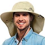 #1: Tirrinia Unisex Sun Flap Hat Fishing Hiking Safari Cap With Neck Cover Wide Brim Hat