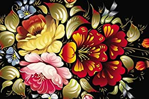 Sim,1000 Pieces Wood Jigsaw Puzzle, Perfect Choice for the Puzzle Lover 29.5 X 19.6 inch Nobleness Present in Box Present-Wrap : Digital Art Bouquet Of Flowers