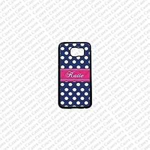 Krezy Case Monogram Samsung Galaxy S6 Case, polka dots monogram Samsung Galaxy S6 Cover, Cute Samsung Galaxy S6 Case