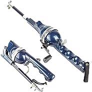 Carbon Portable Folding Fishing Rod Winter Ice Fishing Pole Mini Telescopic Rods with Fishing Line