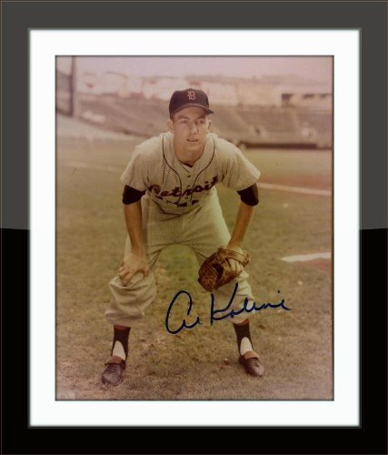 Framed Al Kaline Authentic Autograph with Ceritficate of Authenticity by Vintage Enterprise Memorabilia