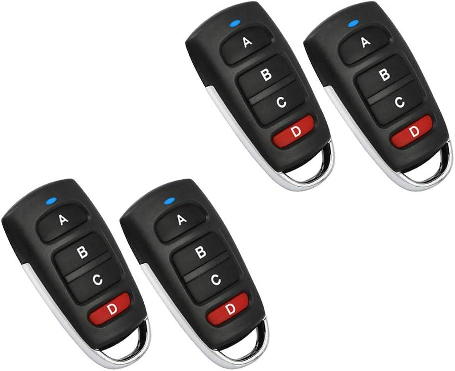 Cloning Remote Control Key Fob,Universal Cloning Wireless Alarm Remote Control Key Fob for Car Garage Door Gate 433mhz Acogedor