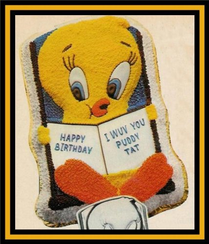 Wilton Tweety Bird and Book Cake Pan Mold (502-7687, 1978) ~ Retired Collectible