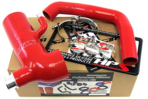 Post MAF with Sound Tube HPS 57-1293-RED-1 Red Silicone Air Intake Hose