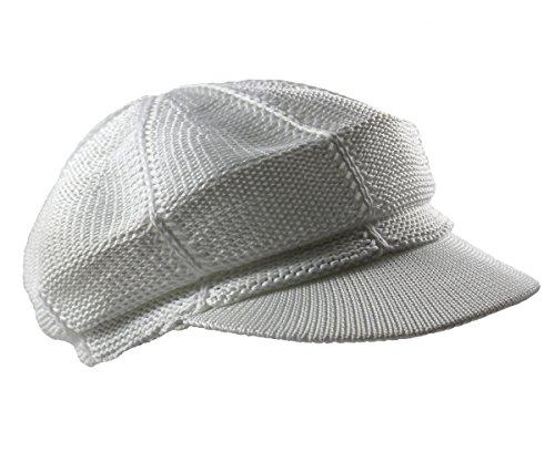 Ladies Fashion Newsboy Caps (NY Summer Mesh newsboy Cap (White))