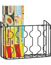 SimpleHouseware Wall Door Mount Kitchen Wrap Organizer Rack