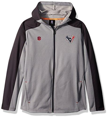 Outerstuff NFL Youth Boys Delta Full Zip Jacket-Magna Pique Heather-XL(18), Houston Texans