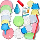 Silicone Stretch Lids 14pcs, Reusable Durable Food Storage Covers for Bowls, 6 Different Sizes to Meet Most Containers…