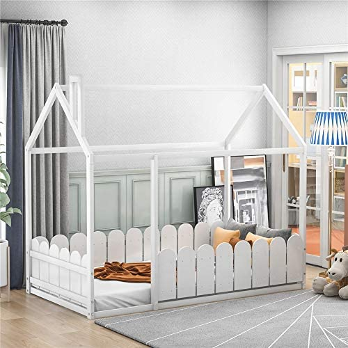 Twin Size Wood Bed House Bed Frame