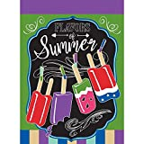 Flavors Of Summer Popsicles Bright Green And Purple 30 x 44 Large House Flag