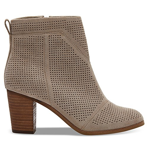 TOMS Womens Lunata Boot Desert Taupe Suede Perforated SX3qF1y