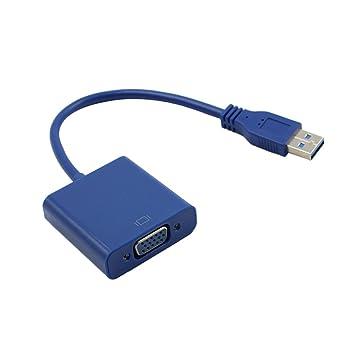 Homyl 1 pieza de Adaptador con Cable USB 3,0 VGA compatible ...