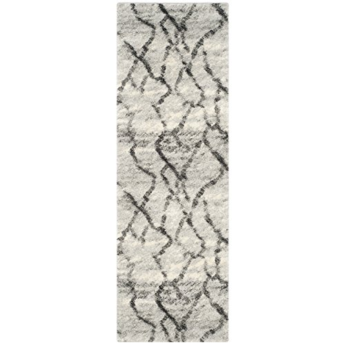Safavieh Retro Collection RET2144-7990 Modern Abstract Light Grey and Black Runner (2'3″ x 9′)