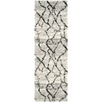 Safavieh Retro Collection RET2144-7990 Modern Abstract Light Grey and Black Runner (23 x 9)