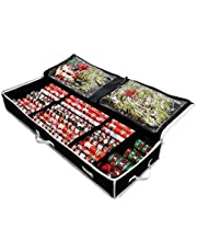 Gift Wrap Storage Organizer - Easily Organize Your Wrapping Paper, Ribbons, Bows and Scissors. Keeps Supplies in Perfect Condition Year Round and Ready for The Next Season. (Black)