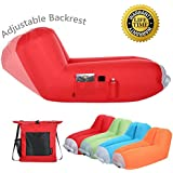 Bertte Inflatable air lounger Upgrade Adjustable Backrest Air Bed Sofa Perfect for Indoor Outdoor Hangout Air Chair Couch Hammock Lazy Bag for Beach Park Camping& Music Festivals